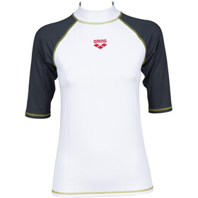 arena Rash SS UV Vest Women, white/ash grey